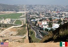 Border between USA and Mexico