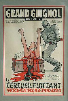 Le cercueil flottant par Eddy Ghilain au théâtre du Grand Guignol (affiche)