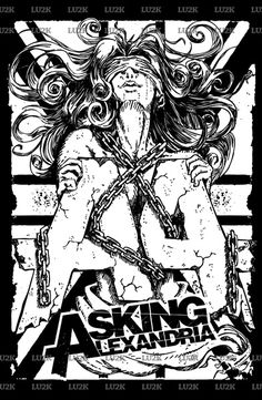 I try to illustrate a lady with a huge passion to love #askingalexandria with chaining her self in the rock of #AA Symbol. I draw it my self on the paper, scan it and trace it. So wow. amaz……..ing. nice draw. If You Want it to print this art work on your stuff , please to be feel free to come in redbubble.com. Thank you. :)   #englandband #englandrocknroll