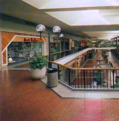 Mall 1985 -- this totally reminds me of the mall we used to go to as kids.