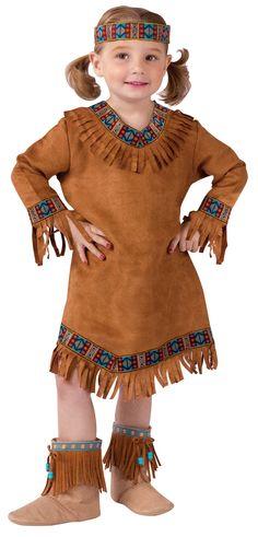 native american women's dress pattern | Toddler Native American Girl Indian Costume