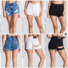 Don't miss out! Get ready for summer with these amazing shorts! Click here to find all the shorts available for her! Urban Fashion Women, Denim Shorts, Mini Skirts, Hoodies, Amazing, Swimwear, Summer, T Shirt, Stuff To Buy
