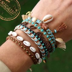 macrame boho bracelet boho style seashell bracelet beach bracelet wakacyjne bransoletki bransoletki w stylu boho bransoletki makrama Beachy Bracelets, Summer Bracelets, Cute Bracelets, Summer Jewelry, Beach Jewelry, Cute Jewelry, Jewelry Bracelets, Jewelry Accessories, Vintage Accessories