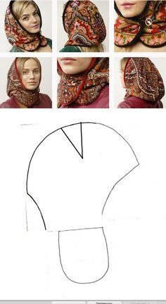 New Women Turban Head Wrap Band Chemo Bandana Hiphop Pocket Hat Scarf Muffler Mode Russe, Clothing Patterns, Sewing Patterns, Sewing Scarves, Mode Turban, Diy Couture, Scarf Hat, Mode Hijab, Love Sewing