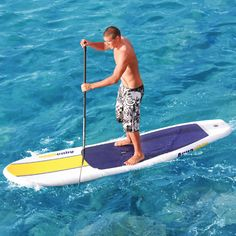 The Ku Hoe He'e Nalu Inflatable Board - Hammacher Schlemmer -  Includes hand pump for easy inflation.
