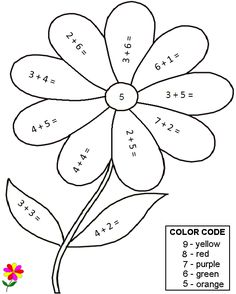 Quality Pre-made Math Worksheets - COLOR BY NUMBER