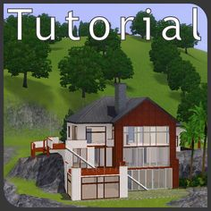 Tutorial: hillside lots – building the house into the slope Sims-3-Tutorial-Hanggrundstuecke-1