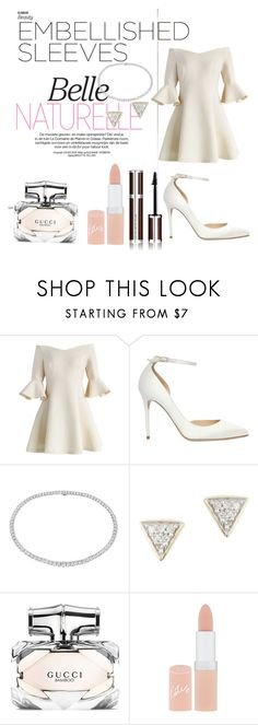 """""""Chic et feminine"""" by lea-yennaj ❤ liked on Polyvore featuring Chicwish, Jimmy Choo, Blue Nile, Adina Reyter, Gucci, Rimmel and Givenchy"""