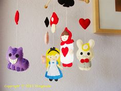 Hanging Nursery baby Mobile Alice in Wonderland - Too cute! For a little girl