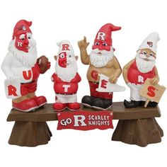 Rutgers Scarlet Knights Gnome Fan Bench...not too sure about this one. #RURahRah?