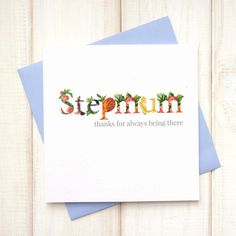Stepmum Mothers Day Card - Personalised Floral Mothers Day Card - Stepmother Mothers Day Card - Stepmother Gifts - Not so wicked Stepmother - Etsy - LetsDreambyChiChiMoi