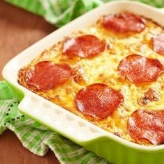 Crustless Pizza Casserole -- A Great Damily Meal!