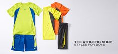 The Athletic Shop: Styles for Boys  He's the fastest on the field and coolest on the court. Whether he's working on his swing, his kick or his 3-point shot, your guy needs clothes that can keep up. This collection features lightweight and breathable fabrics in a slew of bold colors, so he'll be looking cool and...  http://fancyten.com/the-athletic-shop-styles-for-boys/699 #fancyten