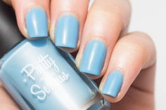 Pretty Serious Granny Panties nail polish swatch.  Bright baby blue