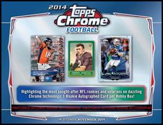 4 pack lot of 2014 Topps Chrome Football Cards from hobby box cards per pack) - Possible Rookie Autographs of Odell Beckham, Johnny Manziel, Blake Bortles, Teddy Bridgewater, Sammy Watkins and Cleveland Browns Football, Oakland Raiders Football, Cincinnati Bengals, Nfl Football, Football Trading Cards, Football Cards, Sammy Watkins, Blake Bortles, Teddy Bridgewater