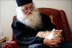Mother Angelica With A Cat!