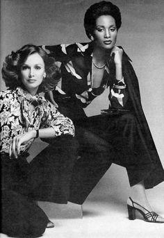 Vogue Editorial February 1974 - Beverly Johnson & Karen Graham by Francesco Scavullo