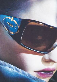 Eyeware: Sasha Pivovarova for Prada F/W 2006 ~ Sunglasses photographed by Steven Meisel