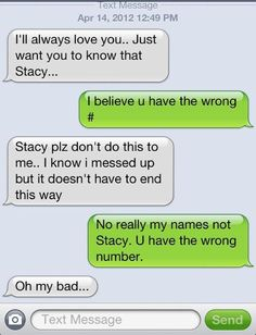 Ha :) If  random person texted me something like that, I would play along with it, LOL