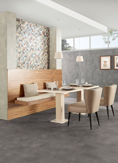 Our Nature range of floor tiles is suitable for a wide range of applications. Shown here: Nature Wildberry.