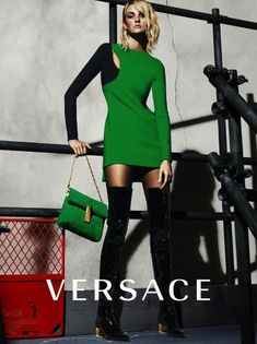 Karlie Kloss, Caroline Trentini and Lexi Boling star in Versarce's Fall 2015 campaign.