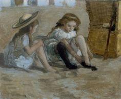 jhr/mr Johan Antonie de Jonge (Rotterdam 1864-1927 Den Haag) De zwarte kousen - Kunsthandel Simonis en Buunk, Ede (Nederland).