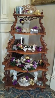 Fairlawn Mansion, Superior Wisconsin, Parlor Christmas, purple gold silver 2014