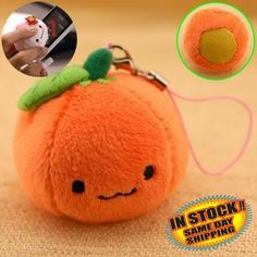 Orange Mikan Chan Plush Doll Phone Strap * Check this awesome product by going to the link at the image. Note: It's an affiliate link to Amazon.