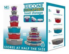 Collapsible 14 Piece Food Storage Set