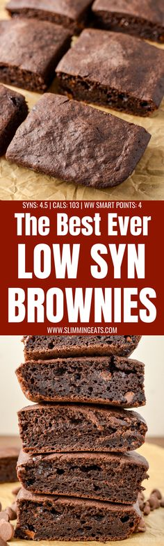 are by far the best ever low syn chocolate brownies you will make. Real Ingredients, low syns and delicious chocolately flavour. Dairy Free, Vegetarian, Slimming World and Weight Watchers friendly Slimming World Cake, Slimming World Desserts, Slimming World Recipes Syn Free, Low Fat Desserts, Ww Recipes, Dairy Free Recipes, Sweet Recipes, Recipies, Healthy Recipes