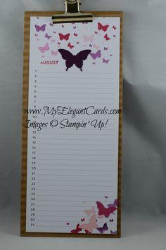 Stampin' Up! Perpetual Birthday Calendar August