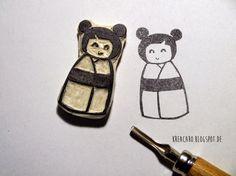 kreacaro: Japanische Kokeshi DIY