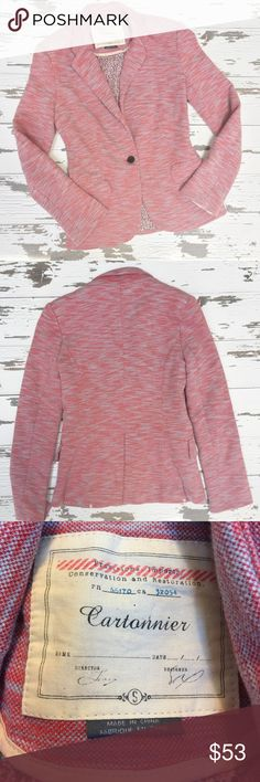 ⭐️LIKE NEW⭐️ ANTHROPOLOGIE Blazer Blazer has been gently worn but in perfect like new condition. The bust measurement is approximately 18 inches across laying flat from armpit to armpit. The length is approximately 24.5 inches. Anthropologie Jackets & Coats Blazers