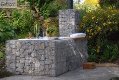 gabion surround, wood fired outdoor bath http://www.gabion1.co.uk