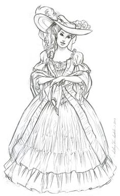 Anthony VanArsdale – Art and Illustration: Historical Dress Sketches - Historical Dresses Dress Sketches, Art Sketches, Art Drawings, Art And Illustration, Coloring Book Pages, Art Sketchbook, Colorful Pictures, Character Design, Historical Dress