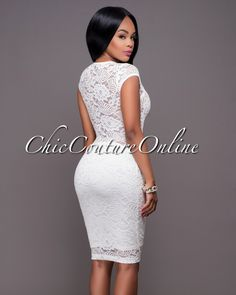Chic Couture Online - Mystic Off-White Lace Midi Dress.(http://www.chiccoutureonline.com/mystic-off-white-lace-midi-dress/)