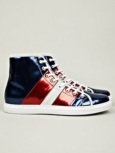 2012.11.29. What 'bout some sneakers from Marc Jacobs? We really dig these shiny red and blue's.