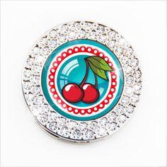 Lucky Cherry Bomb Retro Print Graphics Design Purse Hooks | Designer Handbag ...    sugarluxe.com