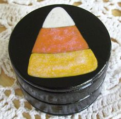 Hand Painted Love Boxes CandyCorn Trinket Box... $25.00