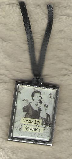 Gossip Girl pendant for a necklace...cute!