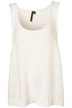 Summer knit cotton vest top