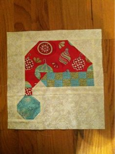 Christmas quilt block, by Julie's Quilts