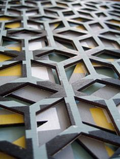 "Thx for the share, so unique- ""Laser cut wood and fabric by Chloe Scadding (via design milk)"" Surface Pattern, Surface Design, Textures Patterns, Print Patterns, 3d Texture, Textiles, Fabric Manipulation, Textile Design, Geometric Shapes"