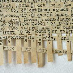Matjes vlechten met papier uit de papier snipperaar.