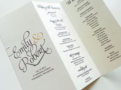 Wedding Programs  Scripted Pearl Shimmer by LittleSparkCreations, $75.00