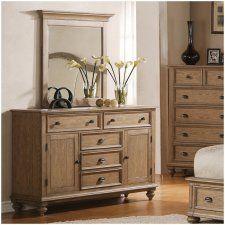 Riverside Coventry Panel 2-Door 5 Drawer Dresser - Weathered Driftwood