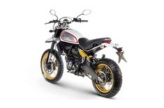 Finally--a dirt-worthy Ducati Scrambler! Ducati provides a true dual-sport solution with the Desert Sled, a true to form on- and off-road machine. Moto Scrambler, Moto Ducati, Yamaha, Triumph Motorcycles, Custom Motorcycles, Motorcycles For Sale, Standard Motorcycles, Motocross, Ducati Models