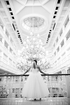 A beautiful Disney bride and The Grand Floridian Resort- what a perfect pair