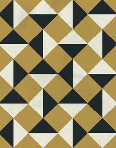 Gold and Black Bold Vintage Geometric Pattern by LiveLoveStudio