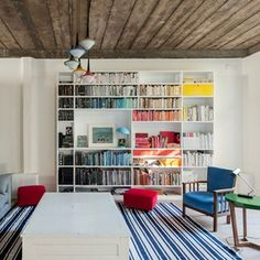 Ponsard Road, Kensal Green, London — The Modern House Estate Agents: Architect-Designed Property For Sale in London and the UK Bookshelves, Bookcase, Bookshelf Ideas, Study Design, Home Libraries, Public Libraries, Small Room Design, Living Spaces, Living Room